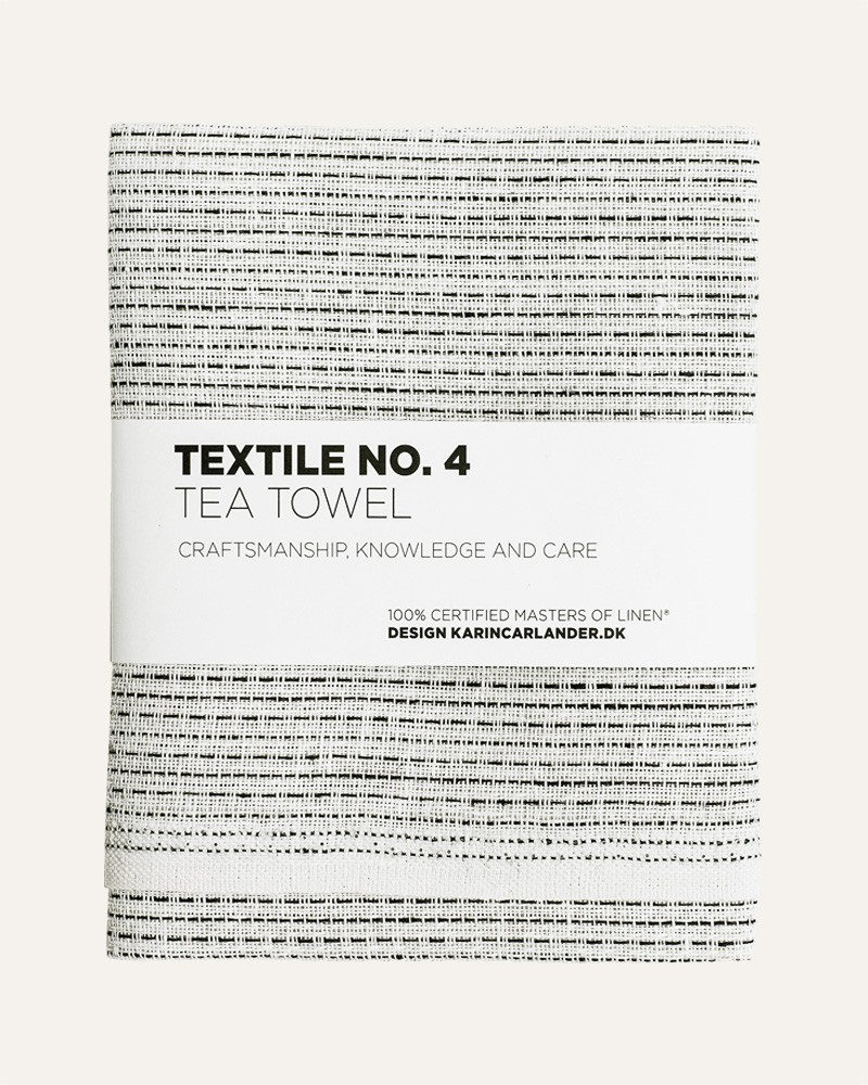TEXTILE NO.4 SASHIKO WHITE LINEN TEA TOWEL