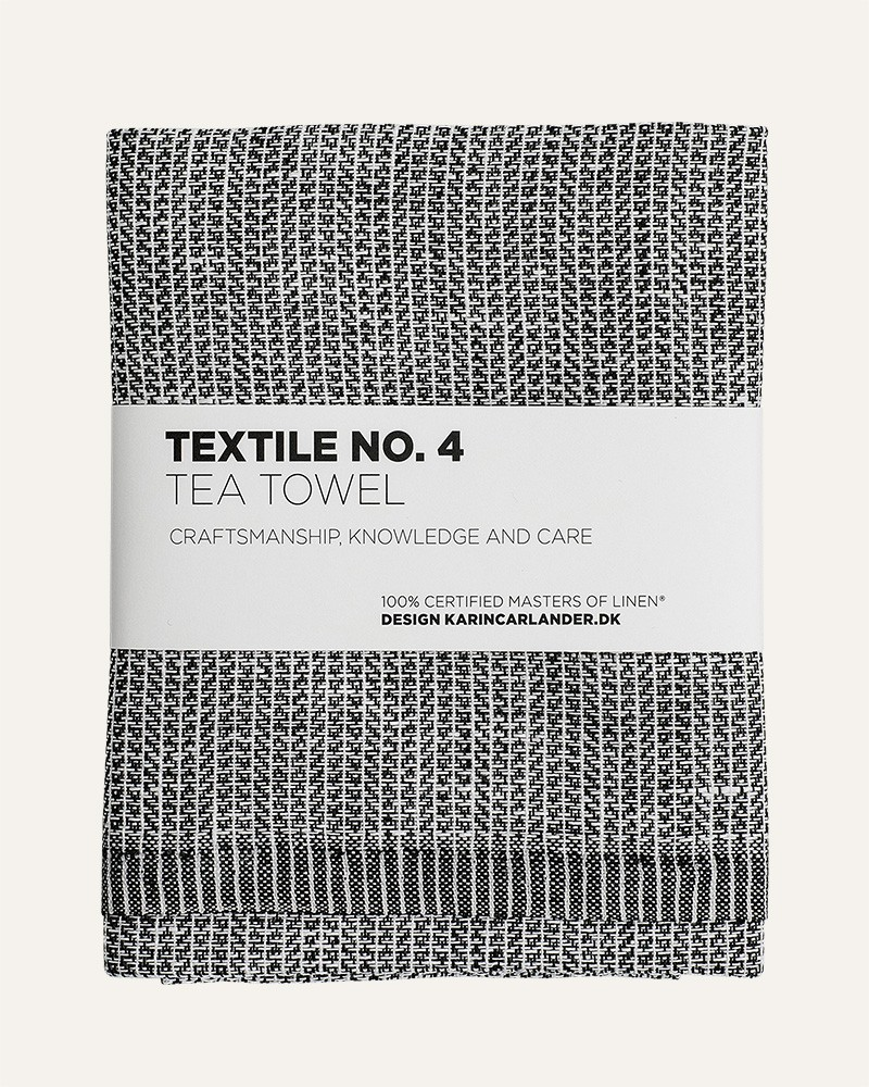 TEXTILE NO.4 YINYANG LINEN BLACK WHITE TEA TOWEL