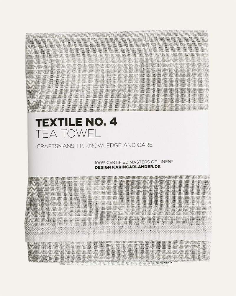 TEXTILE NO.4 SASHIKO GREY LINEN TEA TOWEL