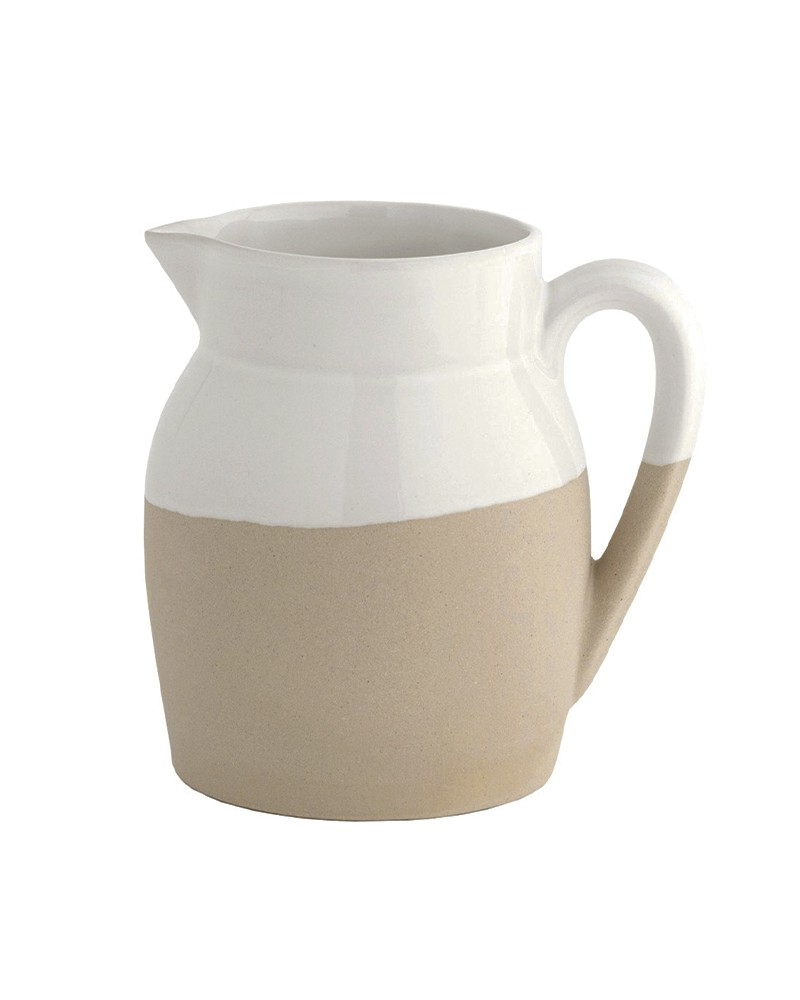 STONEWARE WATER JUG WHITE