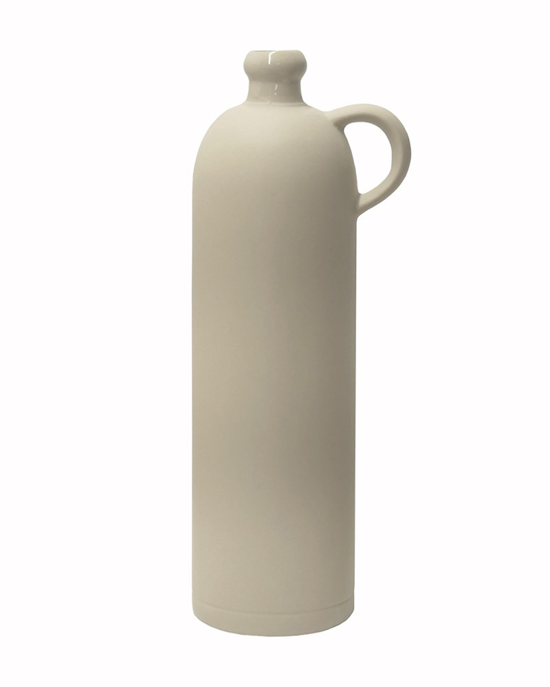 BIG NATURAL STONEWARE BOTTLE WITH HANDLE