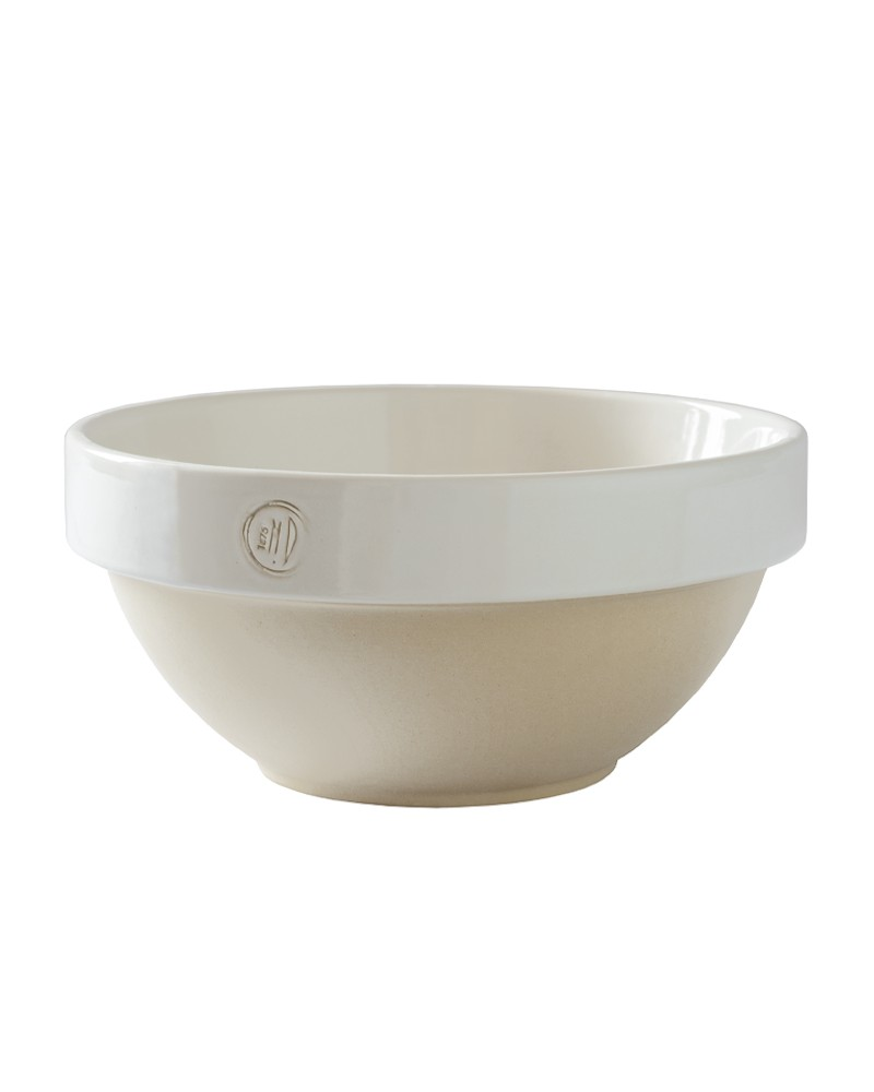 EXTRA LARGE STONEWARE BOWL WHITE