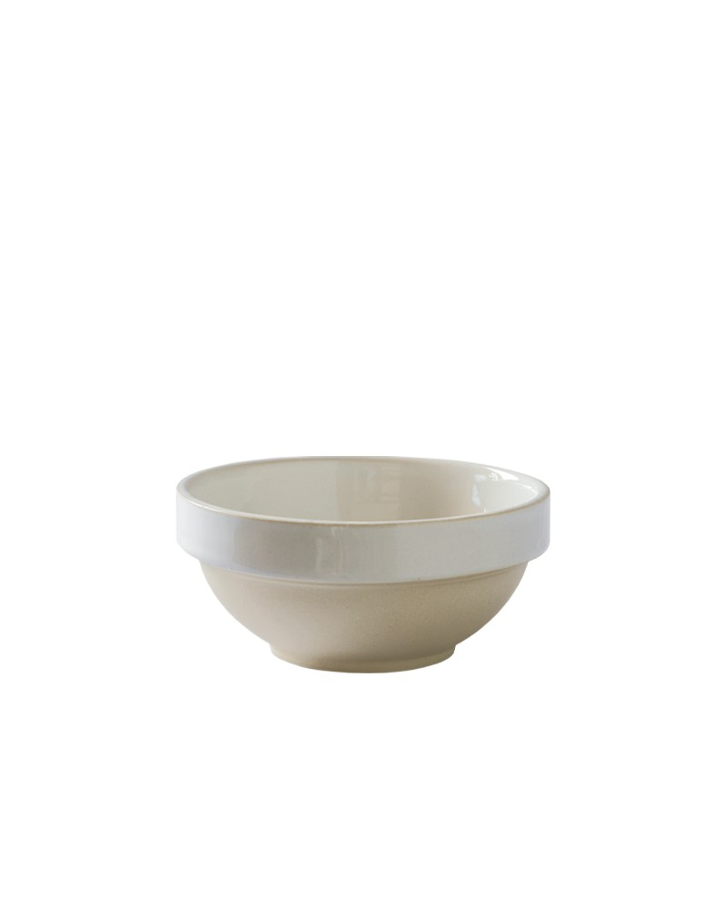 MEDIUM STONEWARE BOWL WHITE