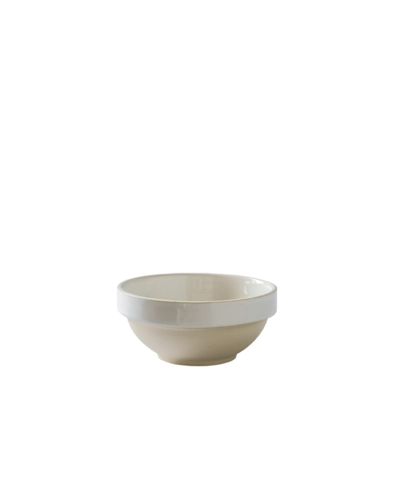 SMALL STONEWARE BOWL WHITE