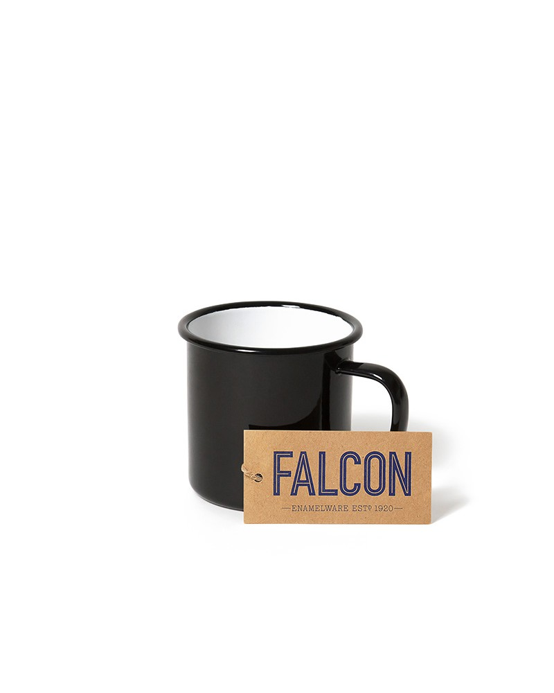 COAL BLACK ENAMEL MUG
